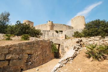 Bellver Castle Castillo tower in Majorca at Palma de Mallorca