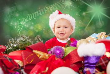 baby weihnachten freude
