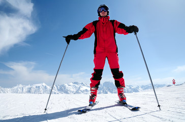 male skier at Solden ski resort