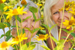 Senior woman with her mother in garden.
