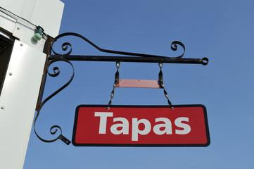 Sign of Spanish restaurant