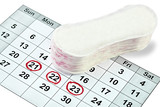 woman hygiene protection menstruation period health care calenda