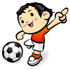 Soccer games football player character. Sports Character Design