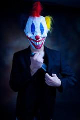 clown in jacket
