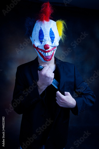 clown in jacket