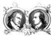 Portrait : Men 18th/19th century - Schiller & Goethe