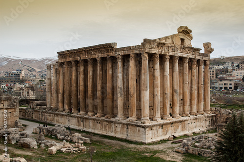 The roman Temple of Bacchus in Baalbek, Lebanon