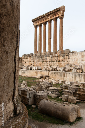 Ruins of the roman Temple of Jupiter in Baalbek, Lebanon