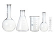 canvas print picture - Test-tubes isolated on white. Laboratory glassware