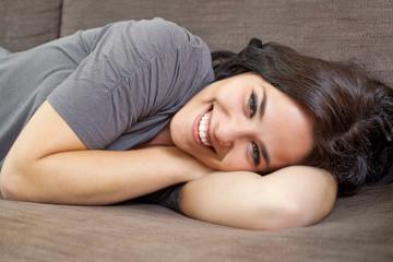 Nice woman smiling