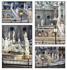 Collage - Palermo, Piazza Pretoria