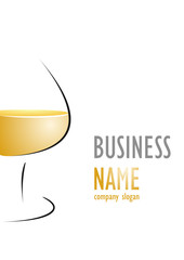 Business logo brandy glass design