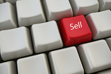 "Keyboard with ""sell"" button"