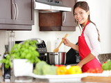 Cooking woman in kitchen - 46027865