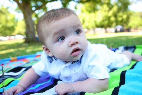 Cute Baby in the Park