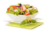 Fototapety Composition with vegetable salad bowl