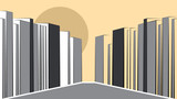 Modern Urban cityscape vector illustration poster