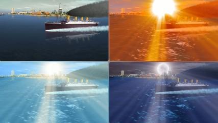 TITANIC sailing over sea at all times