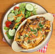 Individual Baked Pasta Gratin with Salad