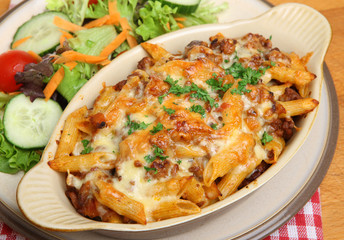 Baked Pasta Gratin Meal
