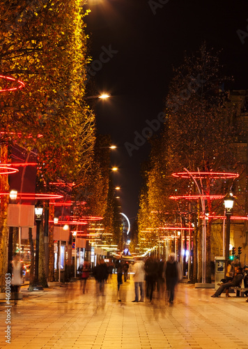 Night on Champs Elysees