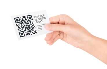 QR Code Business Card Concept