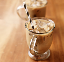 Iced coffee with copy space composition © Joshua Resnick