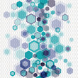 Geometrical background with hexagons and nets. Eps10