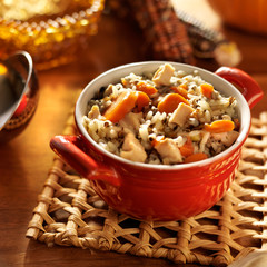 Soup- Chicken and wild rice with carrots