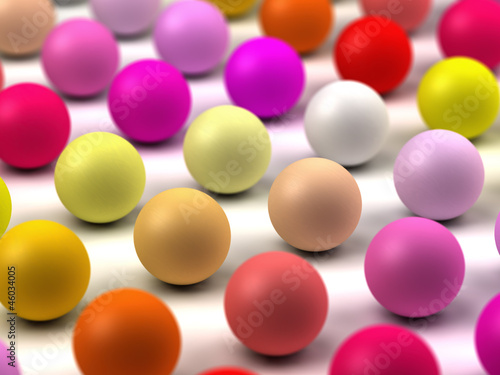 Pastel spheres array