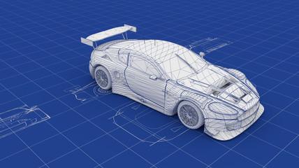 Blueprint Race Car