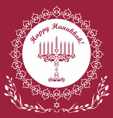 Jewish Hanukkah holiday background , vector illustration