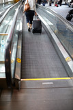 Moving walkway in the airport.