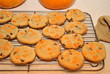Baking Homemade Pumpkin Cookies with Chocolate Chips