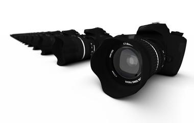 DSLR Konzept - Digitale Spiegelreflexkameras in Reihe 1