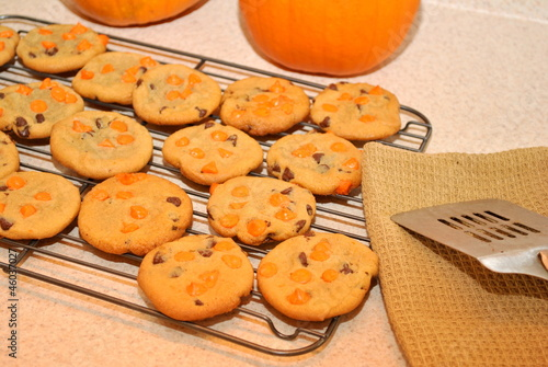 Homemade Halloween Cookies Cooling