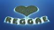 Постер, плакат: Reggae Love Insel Konzept 2