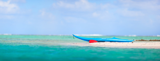 Kayak on a beach