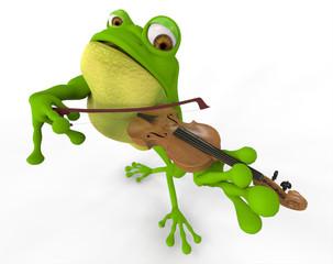 Rana Tocando El Violin