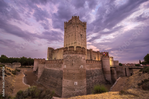 View of Castle of Mota in Medina del Campo, Valladolid, Spain