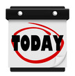 Today Word Wall Calendar Reminder Schedule Now