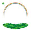 虹とハートクローバー