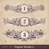 retro floral chapter dividers (series)