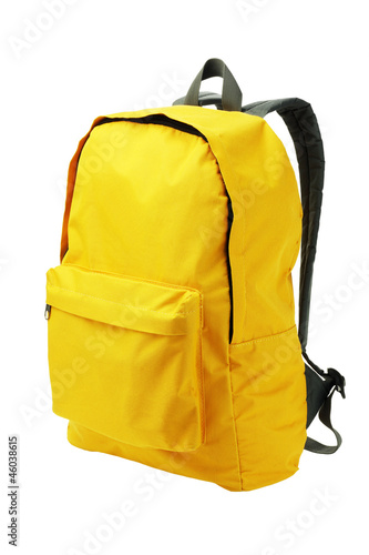 Leinwanddruck Bild Yellow Backpack