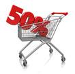 50 percent in cart