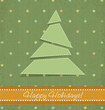 vintage vector Christmas background with Christmas fir