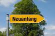 Pfeil mit Baum NEUANFANG