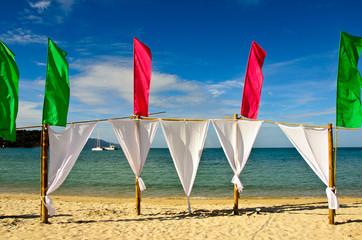 Beach rest pavilion in Thailand / Koh Samui