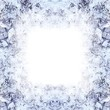 Rahmen aus Eiskristallen (Fotocollage)