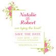 Wedding Invitation Card - Flower Theme - in vector